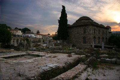 The ruins of the old city of Athens