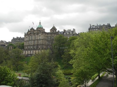 A view from Princes Street of old Edinburgh