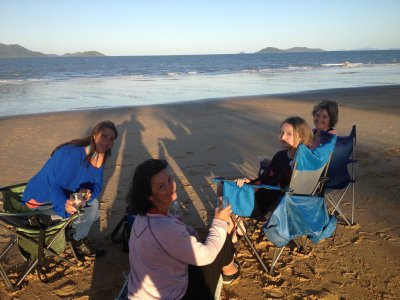 "QLD - MISSION BEACH ""PICNIC AT SUNSET WITH A GREAT VIEW OF DUNK ISLAND"""