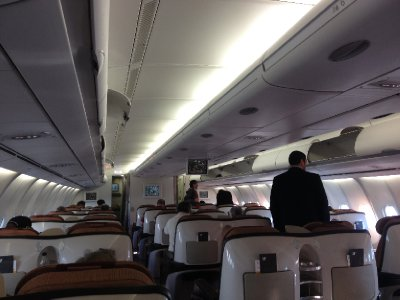 Business class cabin on Iberia.  Ho-hum.