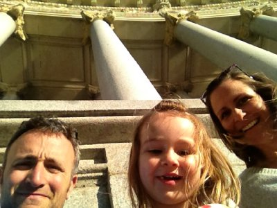 Three kids in Madrid