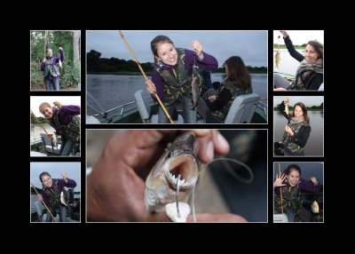 Fishing collage