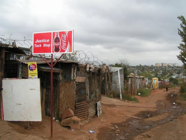Shacks in Soweto