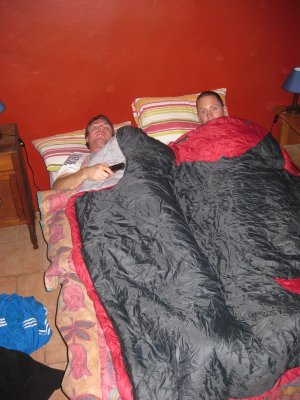 After the sun of Durban we traveled inland to the Free State town of Clarens. At -10 degrees, spooning became a necessity