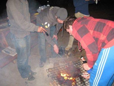 Cooking the braai