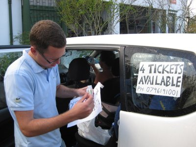 Getting serious in the ticket scalping market. These signs ended up paying for themselves