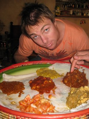 Ethiopian cuisine - one of the best meals of the trip