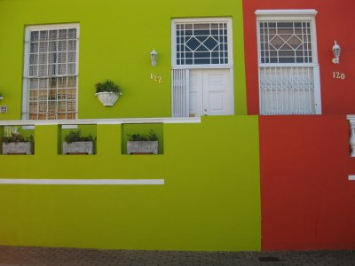 Bo Kaap, Cape Town. Old Malay quarter of town where all buildings are painted funky colours