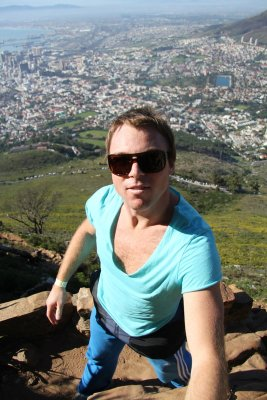 James on the climb to Lions Head. The perfect way to see Table Mountain and Cape Town in the one hit