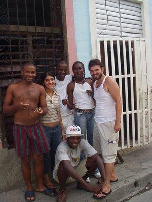 Friends in Santiago de Cuba