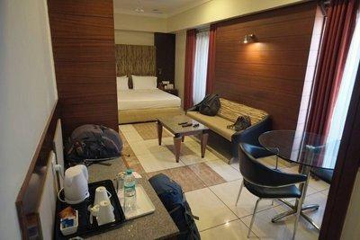 Our room, Ambassador Hotel, Ahmedabad, Gujarat (33 euros)