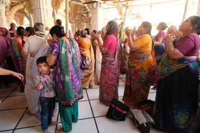 Ladies singing at Swaminarayan Temple, Ahmedabad, Gujarat