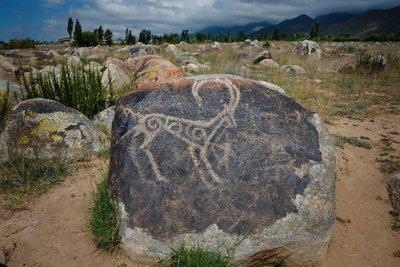 Petroglyphs, Cholpon Ata