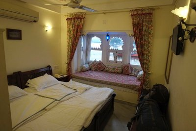 Our room, Jagat Niwas Palace Hotel, Udaipur, Rajasthan (49 euros)