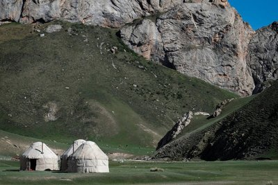 Yurt camp, Tash Rabat