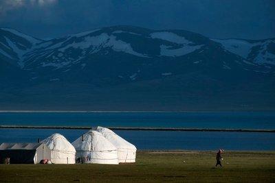 Yurt camp, Lake Song Kul