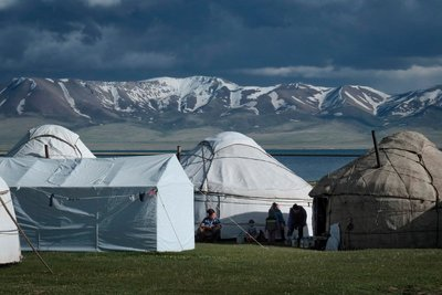 Yurt camp, Lake Song Kul