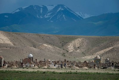 Cemetery on the way to Lake Song Kul