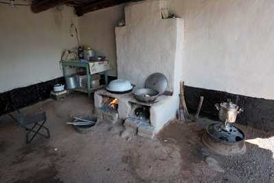Outdoor kitchen, homestay, Kyzyl Oi