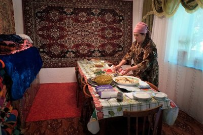 Dining room, homestay, Kyzyl Oi