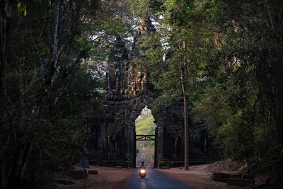 Gate at ancient capital Angkor Thom