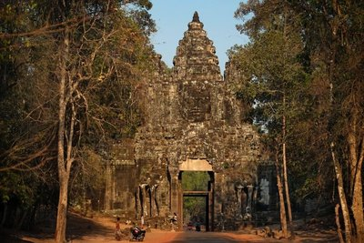 One of the entrance gates to the ancient capital Angkor Thom