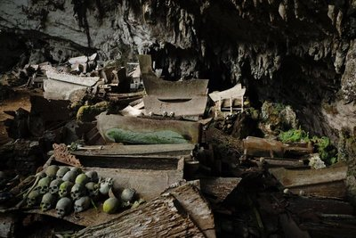 General view, Erong Lombok ancient burial cave, Parinding
