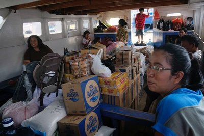 Ferry to Bunaken island