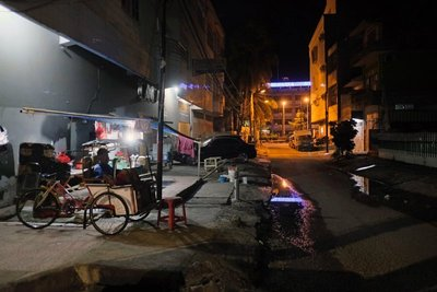 Makassar street evening