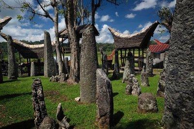 Megaliths at Bori Kalimbuang aka Bori Parinding