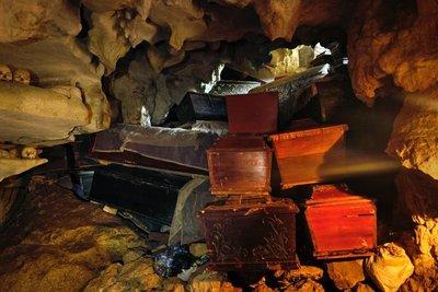 Inside Londa burial cave