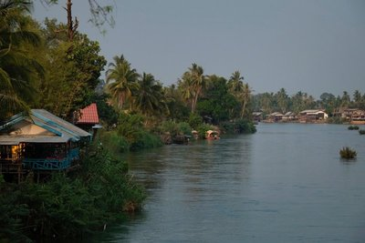 View from the bridge between Don Det and Don Khon, 4,000 Islands