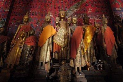 Standing Buddhas, Wat Xieng Thong monastery, Luang Prabang