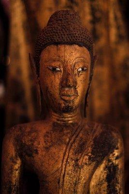 Buddha image Wat Xieng Thong monastery, Luang Prabang