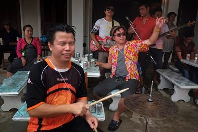 Live band, Pi Mai Lao New Year, Luang Prabang
