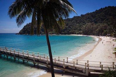 Beach in front of Perhentian Island Resort (Besar)