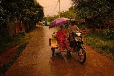 Rainy evening, Mrauk-U