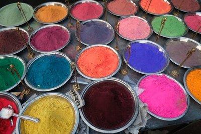 Pigments, Orchha, Madyha Pradesh