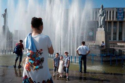 Fountain in front of Bishkek Philharmonic