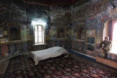 Maharaja's bedroom, Kota Fort Palace, Rajasthan