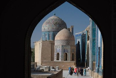Shahi Zinda, avenue of mausoleums, Samarkand, UZ