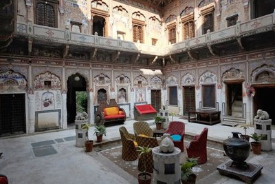 Interior courtyard of our hotel, Mandawa Haveli, Rajasthan