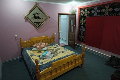 Our room, homestay, Bokonbayevo (18 eu with breakfast)