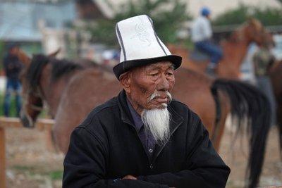 Kyrgyz man at the Karakol Livestock Market