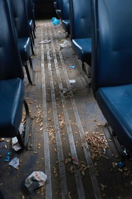 Not the cleanest bus