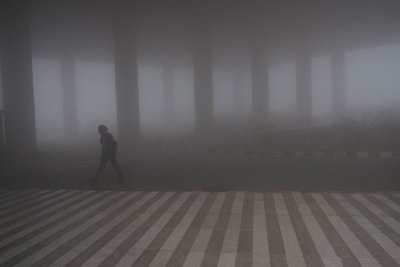 Fog at New Delhi Airport