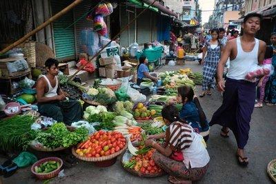 Market in Yangon