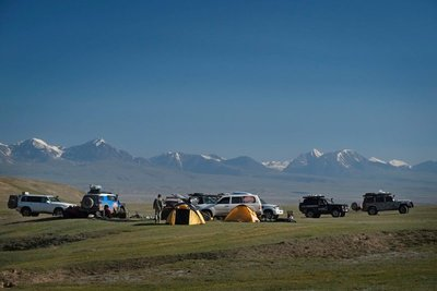 Campsite Kok Kiya Valley, Off-Road Kings Expedition 2015