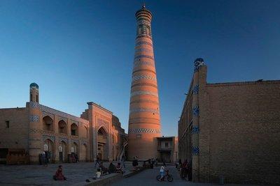Madrasa and Minaret Islam Khodja, Khiva, UZ