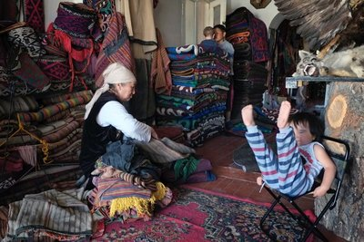 Kochkor, cooperative where traditional carpets and yurt accessories are made.